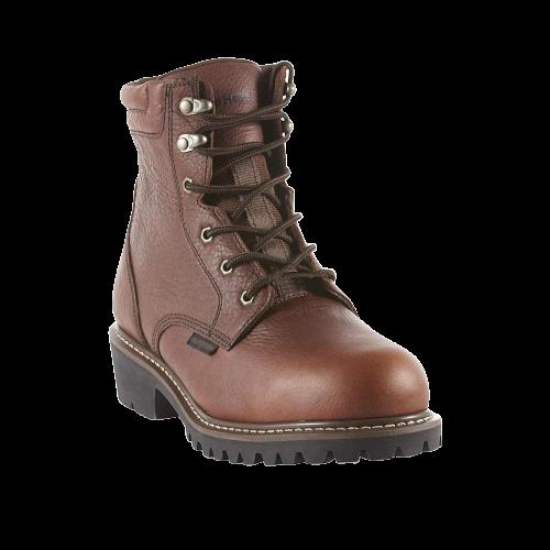 Waterproof Soft Toe Work Boot - Brown